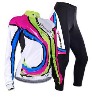 Cycling Jersey Long Kits Women Bike Pants Padded C..