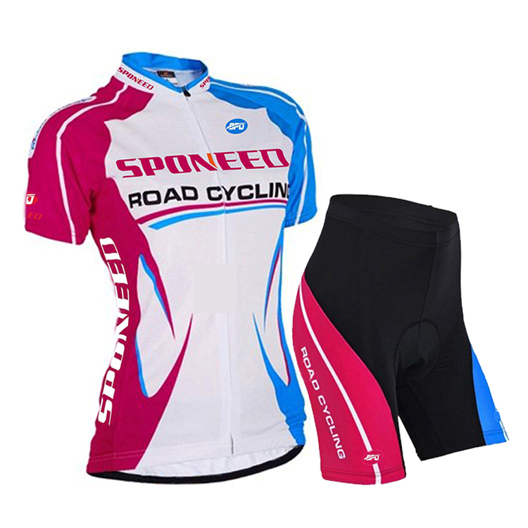 Ladies Cycling Clothing Bike Jersey & Padded Shorts Quic..