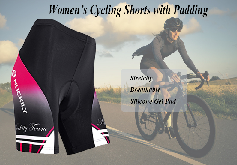 Womens Cycling Shorts 3D Padded Gel Tights Shorts MTB Road Bicycle Shorts