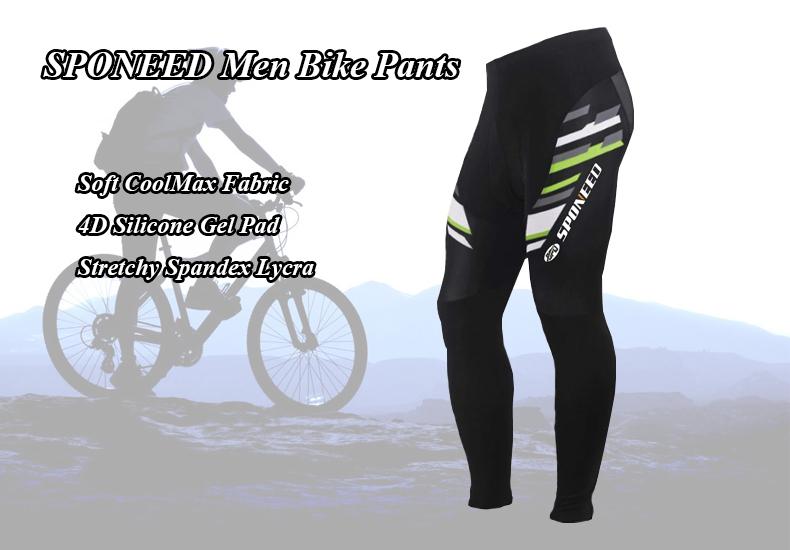 New Pro Mens Cycling Bib Tights Coolmax Padded Long Leggings MTB Bike Trouser