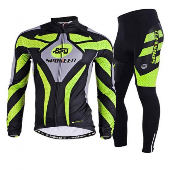 Men's Cycling Jersey Suit Long Sleeve Mountain Bike Shirt Ti..