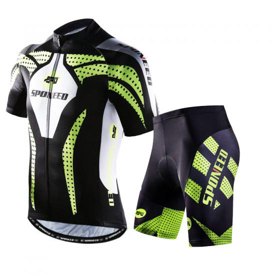 Cycling Clothing Men Bike Jersey Padded Shorts Sets Quick Dr..