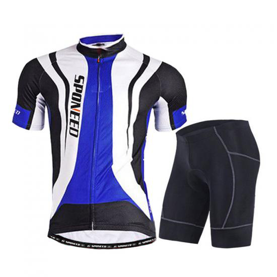 Men Bike Jersey & Shorts Kits Stretchy Team Bike Wear Ti..