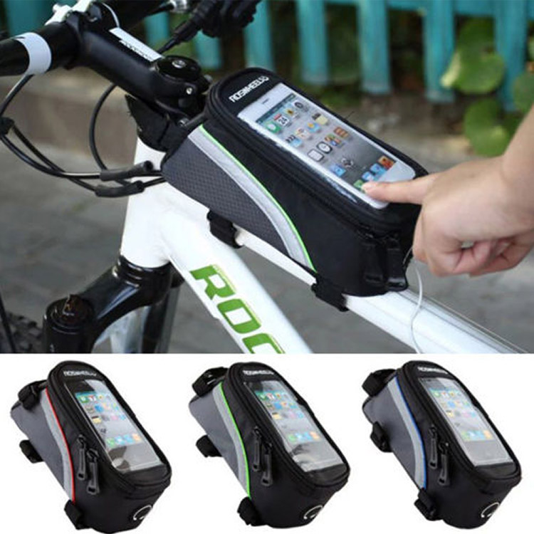 Bicycle Front Tube Frame Bag Bicycle Holder for Iphones Touc..