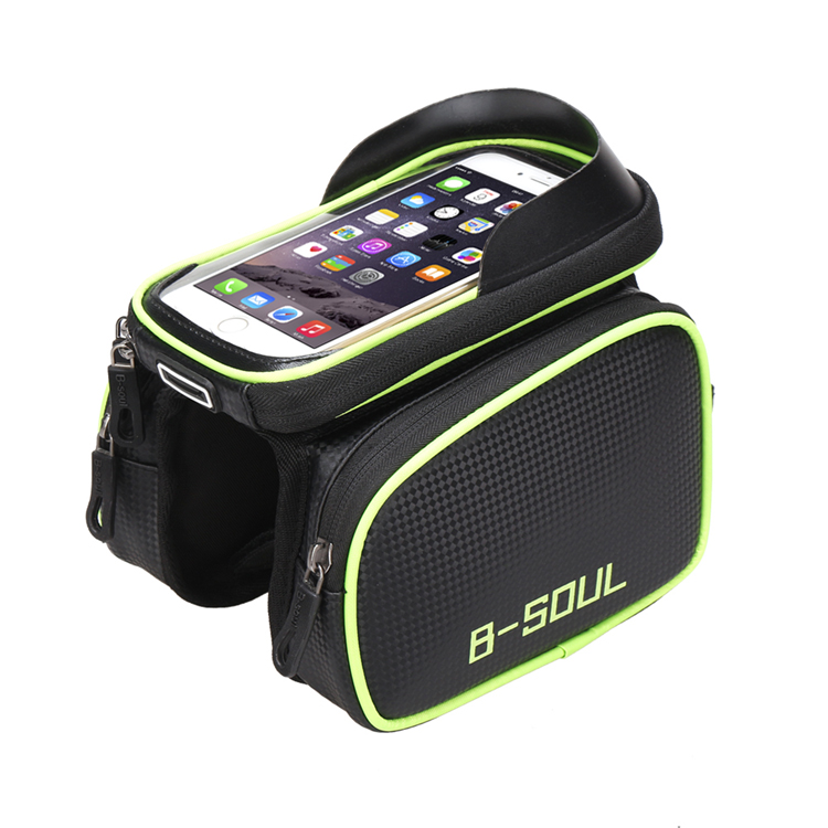 Bicycle Pannier Pouch Saddle Bag with Touch Screen Phone Cas..