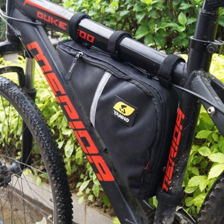 2.4 L Waterproof Double Zip Bike Handlebar Bags Bicycle Tria..