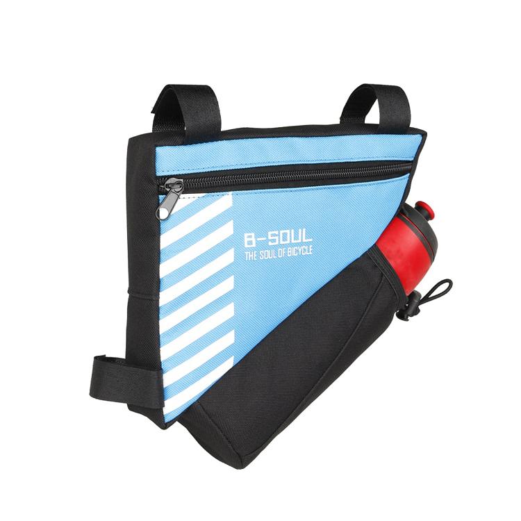 Bicycle Bike Storage Bag Triangle Saddle Frame Strap-On Pouc..